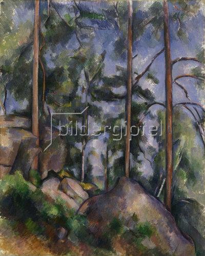 Paul Cézanne: Kiefern und Felsen. Um 1897