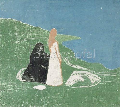 Edvard Munch: Frauen am Meeresufer. 1898.
