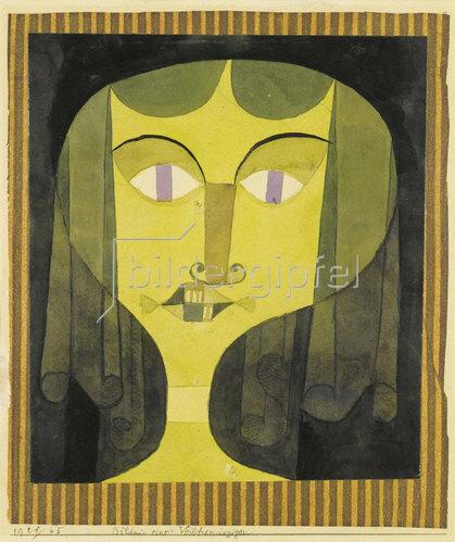 Paul Klee: Bildnis einer Veilchenäugigen. 1921