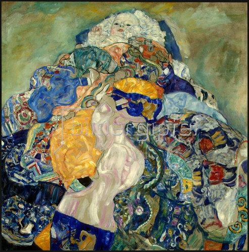 Gustav Klimt: Baby (Wiege). 1917/18
