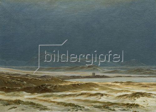 Caspar David Friedrich: Nordische Landschaft im Frühling. Um 1825