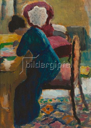 August Macke: Elisabeth am Schreibtisch. 1909/10