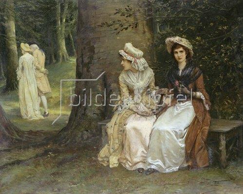 William Oliver: Unerwiderte Liebe (Szene aus: Viel Lärm um Nichts). 1880