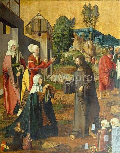 Hans Schäufelein: Abschied Jesu von Maria.