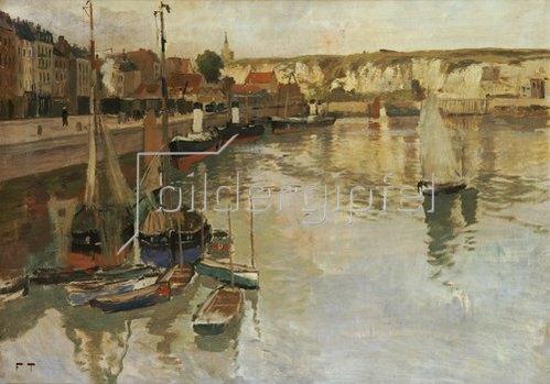 Frits Thaulow: Am Hafen von Dieppe.