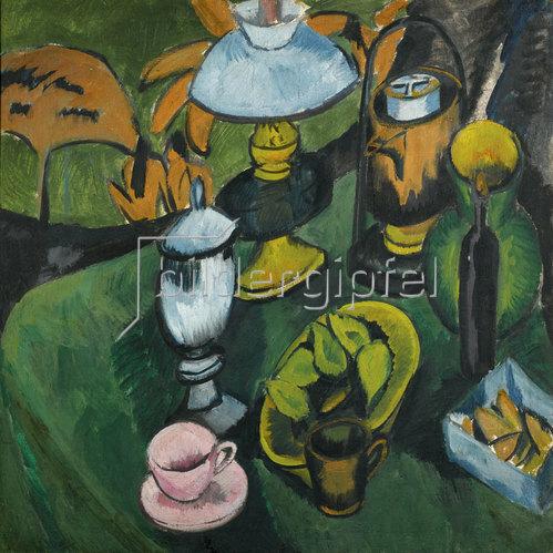 Ernst Ludwig Kirchner: Stilleben mit Lampe. Um 1911