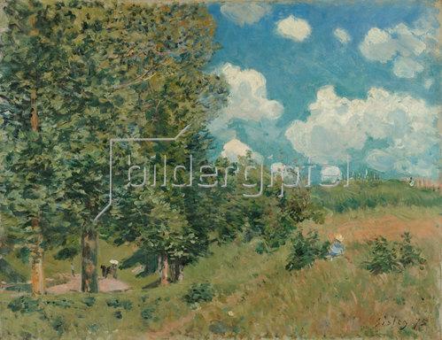 Alfred Sisley: Die Straße von Versailles nach Saint-Germain. 1875