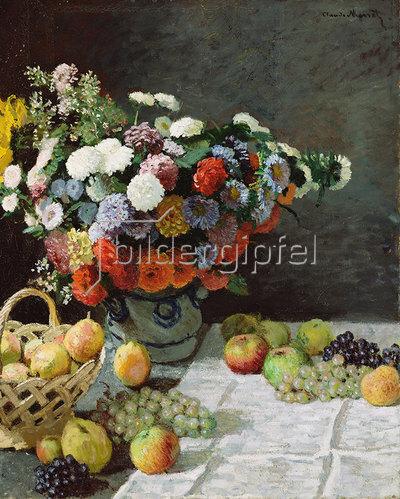 Claude Monet: Stillleben mit Blumen und Früchten