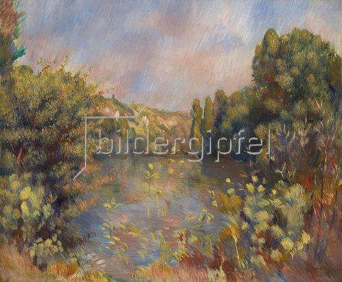 Auguste Renoir: Landschaft mit einem See. Um 1889