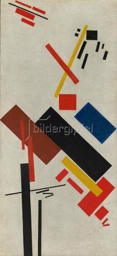 Kasimir Malewitsch: Bau eines Hauses. 1915-16