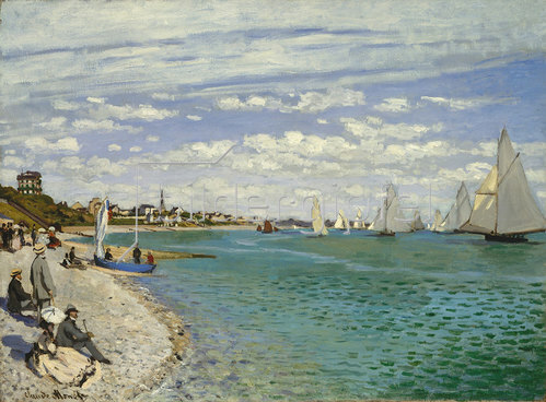 Claude Monet: Regatta bei Sainte-Adresse 1867