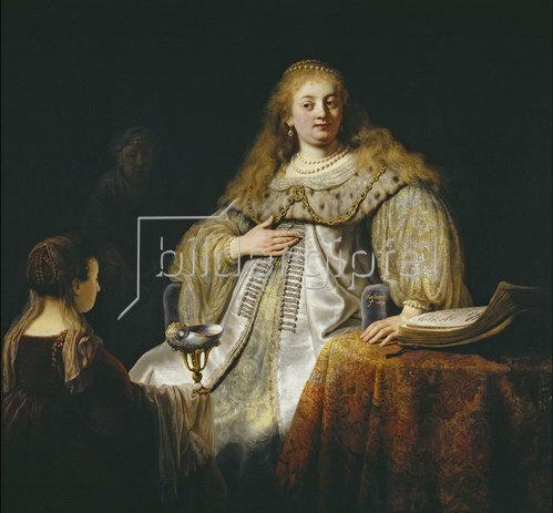 Rembrandt van Rijn: Judith am Bankett des Holofernes. 1634