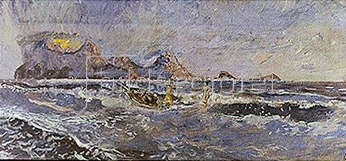Max Klinger: Der Morgen (Christus und Aphrodite).1896. Entwurf für ein nicht ausgeführtes Wandgemälde.