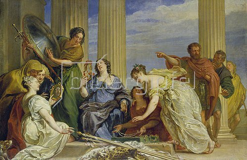 Jan Boeckhorst: Odysseus entdeckt den als Mädchen verkleideten Achill.