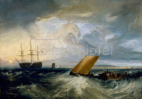 Joseph Mallord William Turner: Sheerness, von der Nore aus gesehen. 1808.