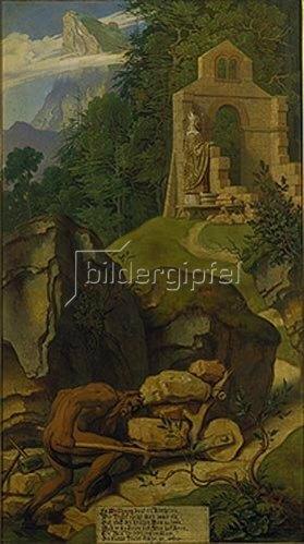 Moritz von Schwind: Legende vom Bischof und dem Teufel. Um 1855