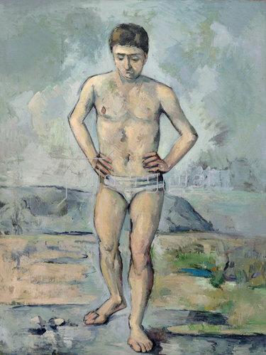 Paul Cézanne: Der Badende. Um 1885