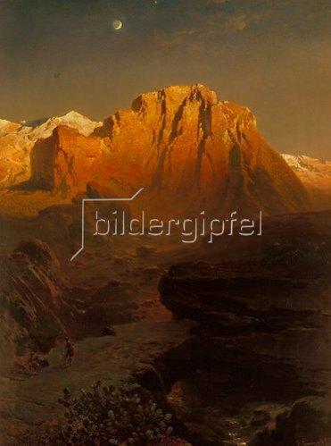 Fritz Bamberger: Abendglühen in der Sierra Nevada. 1863