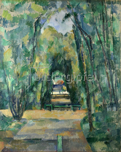 Paul Cézanne: Allee in Chantilly. 1888