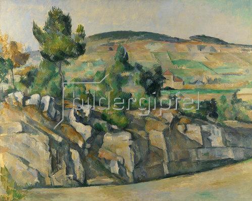 Paul Cézanne: Hügelige Landschaft in der Provence. Um 1890