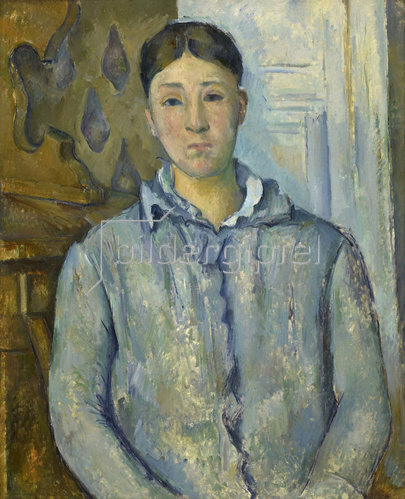 Paul Cézanne: Madame Cézanne in Blau. 1888-90