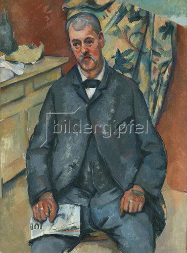 Paul Cézanne: Sitzender Mann. 1890-1900