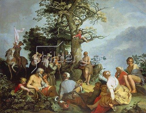 Abraham Bloemaert: Die Predigt Johannes des Täufers.