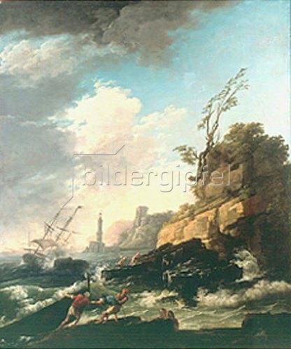 Claude Joseph Vernet: Seesturm mit Schiffswrack.