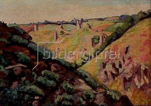 Jean-Baptiste Armand Guillaumin: Die Ruinen des Chateau de Crozant. 1913.