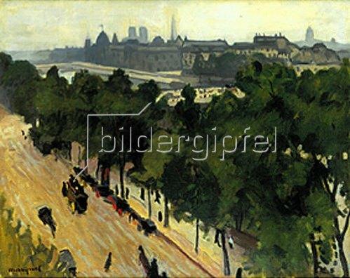 Albert Marquet: Paris, am Quai du Louvre.