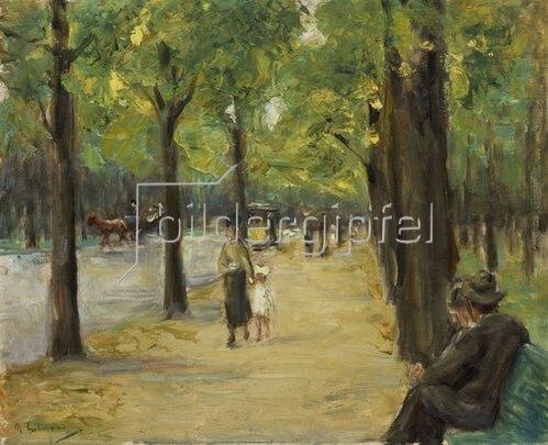 Max Liebermann: Im Tiergarten Berlin. Um 1920