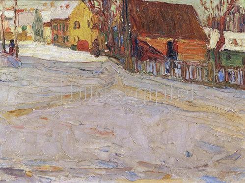 Wassily Kandinsky: Stadtlandschaft.