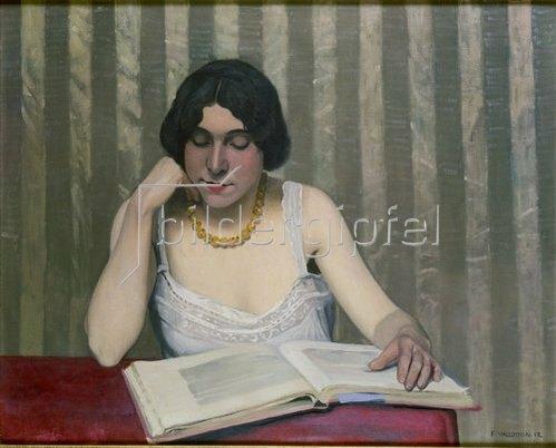 Felix Vallotton: Leserin mit gelber Kette. 1912