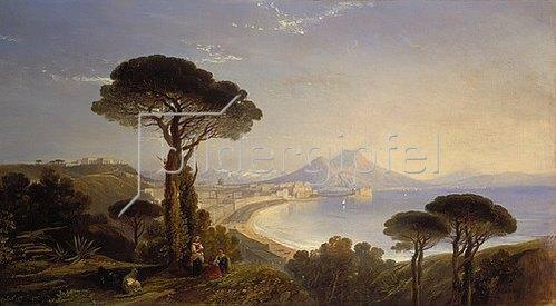 William James Muller: Blick auf den Golf von Neapel. 1839.