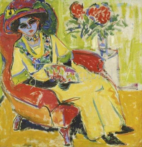 Ernst Ludwig Kirchner: Bildnis Dodo. 1909