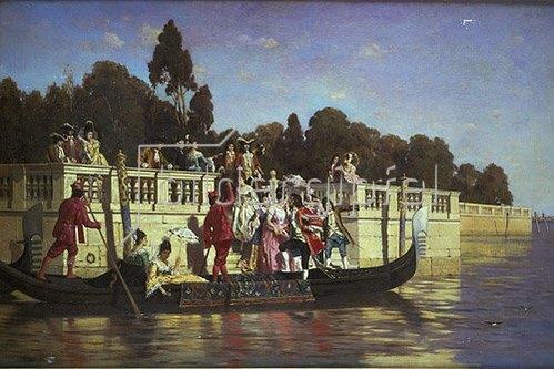 Franz Leo Ruben: Eine elegante Bootsparty.