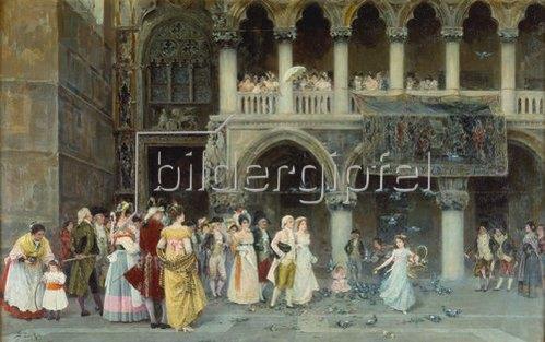 Gabriel Puig Roda: Eine venezianische Hochzeit. 1900
