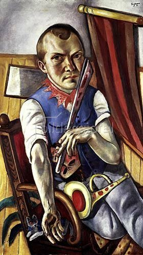 Max Beckmann: Selbstbildnis als Clown. 1921