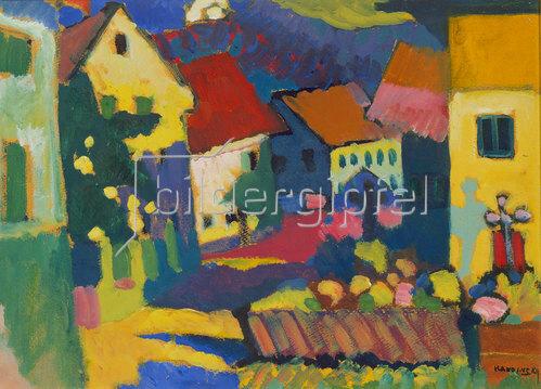 Wassily Kandinsky: Straße in Murnau. Um 1909