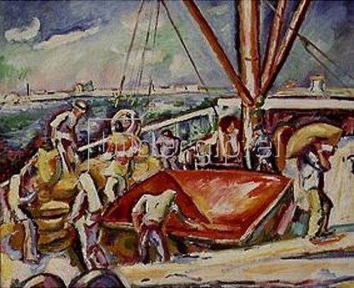 Emile Othon Friesz: Ladearbeiten im Hafen von Antwerpen.1906