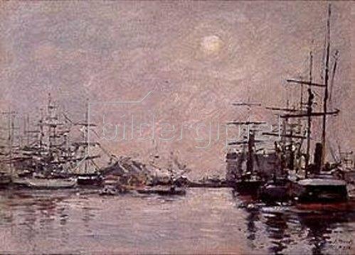Eugène Boudin: Nebeltag im Hafen von Le Havre.