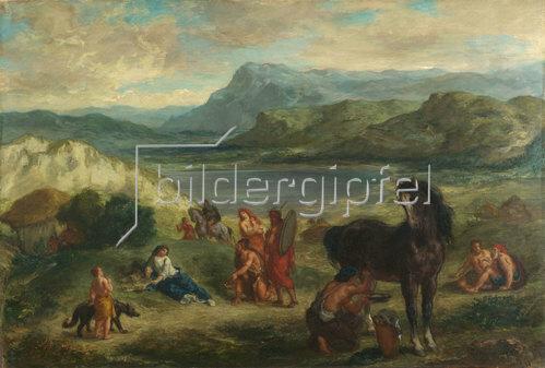 Eugene Delacroix: Ovid bei den Skythen. 1859
