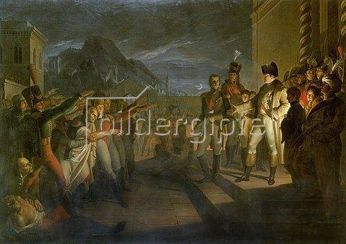 Pietro Benvenuti: Sächsische Bürger huldigen Napoleon nach der Schlacht von Jena. Datiert 1820.
