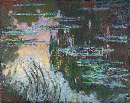 Claude Monet: Seerosen im Abendlicht. Um 1907