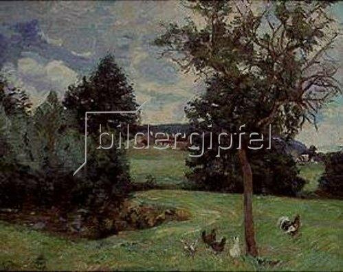 Jean-Baptiste Armand Guillaumin: Landschaft mit Hühnern.