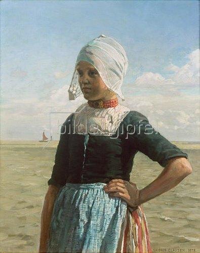 Sir George Clausen: Holländisches Mädchen von der Zuyder See 1876.