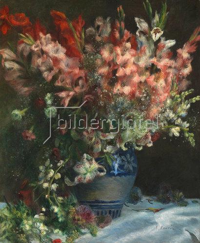 Auguste Renoir: Gladiolen in einer Vase. Um 1875