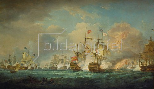 Thomas Whitcombe: Die Seeschlacht von Trafalgar am 21. Oktober 1805. Entstanden 1806.