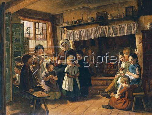 Alfred Rankley: Im Klassenzimmer. 1853