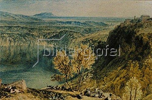 Joseph Mallord William Turner: Der Nemi-See.